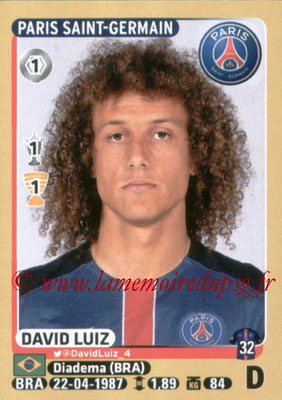 2015-16 - Panini Ligue 1 Stickers - N° 344 - David LUIZ (Paris Saint-Germain)