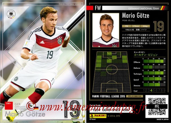Panini Football League 2015 - PFL10 - N° 088 - Mario GÖTZE (Allemagne) (Star +)