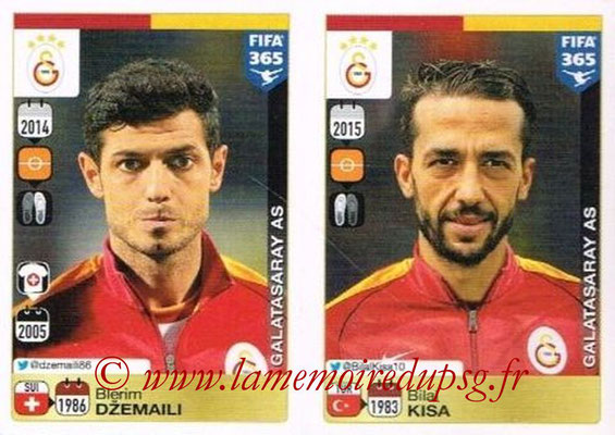 2015-16 - Panini FIFA 365 Stickers - N° 772-776 - Blerim DZEMAILI + Bilal KISA (Galatasaray AS)