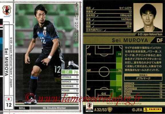 2015-16 - Panini WCCF - N° A32 - Sei MUROYA (Japon)