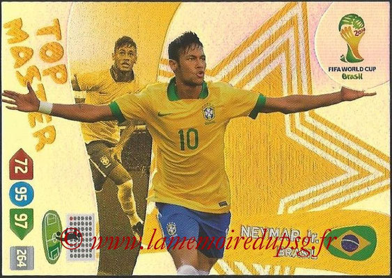 2014 - Panini FIFA World Cup Brazil Adrenalyn XL - N° 407 - NEYMAR JR (Brésil) (Top Master)