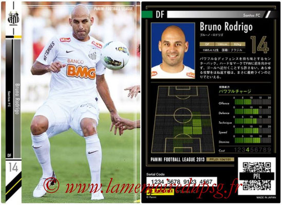 Panini Football League 2013 - PFL01 - N° 104 - Bruno Rodrigo ( Santos FC )