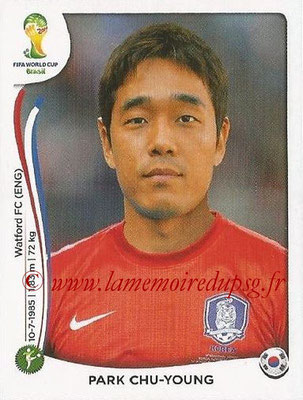 2014 - Panini FIFA World Cup Brazil Stickers - N° 638 - Park CHU-YOUNG (Corée du Sud)