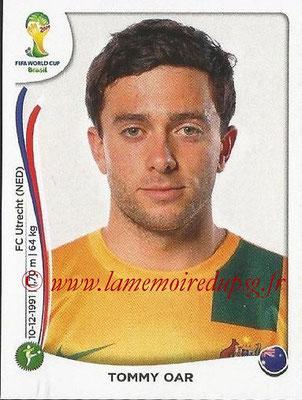 2014 - Panini FIFA World Cup Brazil Stickers - N° 180 - Tommy OAR (Australie)