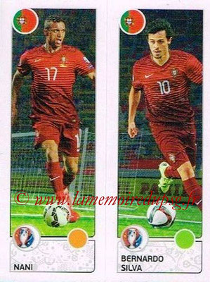 Panini Euro 2016 Stickers - N° 602 - NANI + Bernardo SILVA (Portugal)