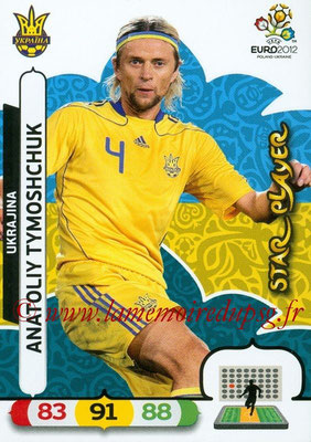 Panini Euro 2012 Cards Adrenalyn XL - N° 218 - Anatoliy TYMOSHCHUK (Ukraine) (Star Player)
