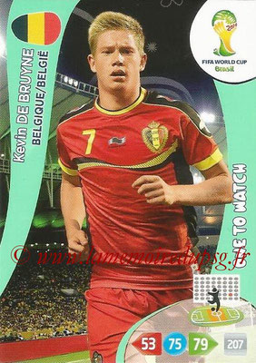2014 - Panini FIFA World Cup Brazil Adrenalyn XL - N° 031 - Kevin DE BRUYNE (Belgique) (One to Watch)