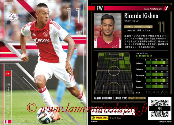Panini Football League 2015 - PFL09 - N° 096 - Ricardo KISHNA (Ajax) (Star)