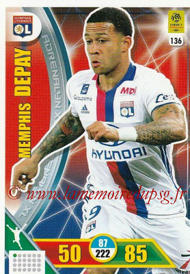 2017-18 - Panini Adrenalyn XL Ligue 1 - N° 136 - Memphis DEPAY (Lyon)