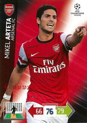 2012-13 - Adrenalyn XL champions League N° 018 - Mikel ARTETA (Arsenal FC)