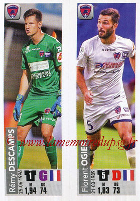 2018-19 - Panini Ligue 1 Stickers - N° 528 - Rémy DESCAMPS + Florent OGIER (Clermont Foot 63)