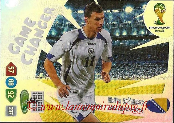2014 - Panini FIFA World Cup Brazil Adrenalyn XL - N° 390 - Edin DZEKO (Bosnie Herzégovine) (Game Changer)