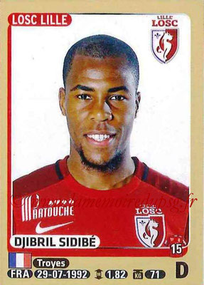 2015-16 - Panini Ligue 1 Stickers - N° 153 - Djibril SIDIBE (Lille OSC)