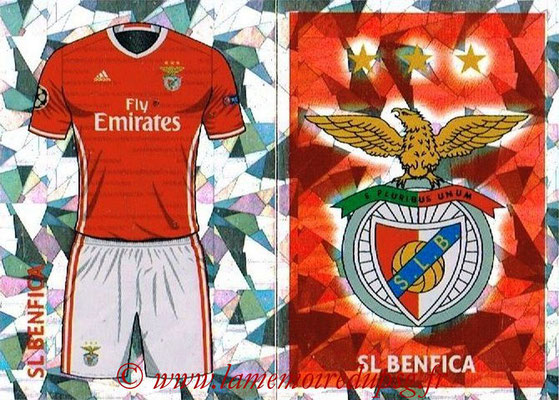 2016-17 - Topps UEFA Champions League Stickers - N° BEN 1-2 - Logo + Maillot Domicile (SL BenFica)
