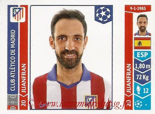 2014-15 - Panini Champions League N° 038 - JUANFRAN  (Atletico Madrid)