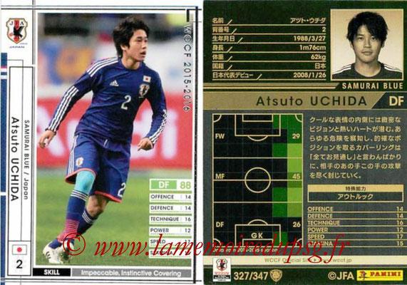 2015-16 - Panini WCCF - N° 327 - Atsuto UCHIDA (Japon)