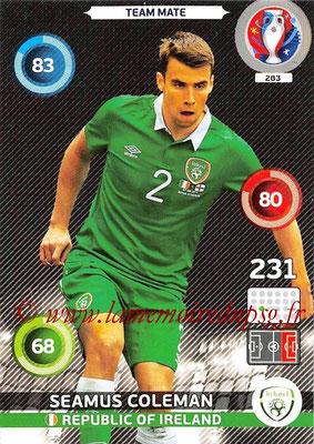Panini Euro 2016 Cards - N° 283 - Seamus COLEMAN (République d Irlande)