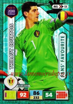 2018 - Panini Road to FIFA World Cup Russia Adrenalyn XL - N° BEL13 - Thibaut COURTOIS (Belgique) (Fans' Favourite)