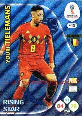 2018 - Panini FIFA World Cup Russia Adrenalyn XL - N° 416 - Youri TELEMANS (Belgique) (Rising Star)