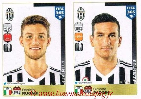 2015-16 - Panini FIFA 365 Stickers - N° 560-561 - Daniele RUGANI + Simone PADOIN (Juventus FC)