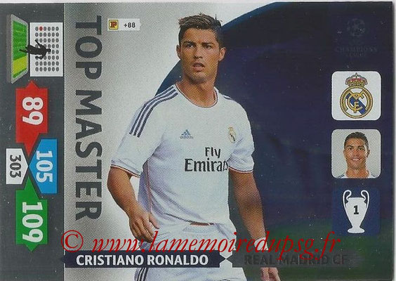 2013-14 - Adrenalyn XL champions League N° 360 - Cristiano RONALDO (Real Madrid CF) (Top Master)