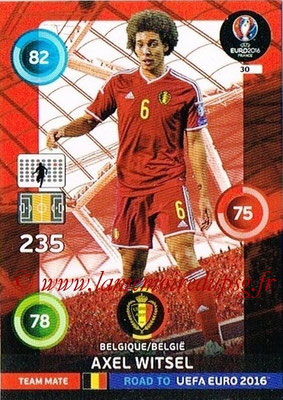 Panini Road to Euro 2016 Cards - N° 030 - Axel WITSEL (Belgique)