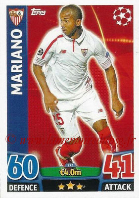 2015-16 - Topps UEFA Champions League Match Attax - N° 273 - MARIANO (FC Seville)