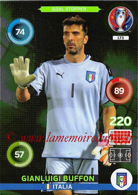 Panini Euro 2016 Cards - N° 173 - Gianluigi BUFFON (Italie) (Goal Stopper)