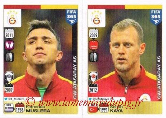 2015-16 - Panini FIFA 365 Stickers - N° 762-763 - Fernando MUSLERA + Semih KAYA (Galatasaray AS)