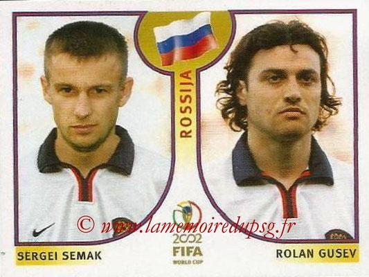2002 - Panini FIFA World Cup Stickers - N° 528 - Sergei SEMAK + Rolan GUSEV (Russie)