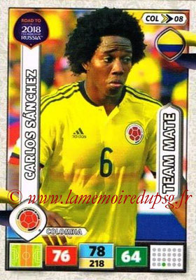 2018 - Panini Road to FIFA World Cup Russia Adrenalyn XL - N° COL08 - Carlos SANCHEZ (Colombie)