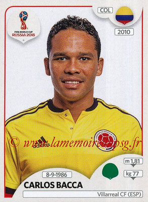 2018 - Panini FIFA World Cup Russia Stickers - N° 648 - Carlos BACCA (Colombie)