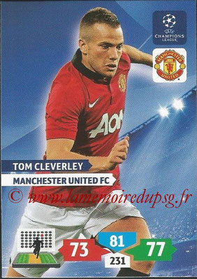 2013-14 - Adrenalyn XL champions League N° 177 - Tom CLEVERLEY (Manchester United FC)
