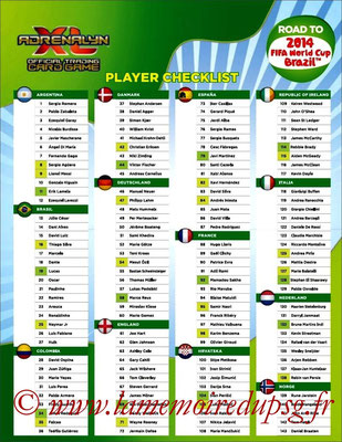 2014 - Panini Road to FIFA World Cup Brazil Adrenalyn XL - Index 1