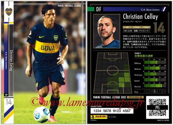 Panini Football League 2013 - PFL03 - N° 083 - Christian Cellay (Boca Juniors)