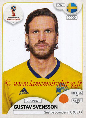 2018 - Panini FIFA World Cup Russia Stickers - N° 484 - Gustav SVENSSON (Suede)