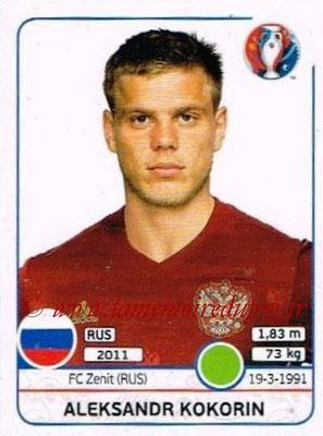 Panini Euro 2016 Stickers - N° 177 - Aleksandr KOKORIN (Russie)