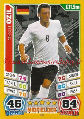 Topps Match Attax England 2014 - N° 125 - Mesut OZIL (Allemagne)