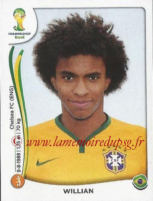 2014 - Panini FIFA World Cup Brazil Stickers - N° 046 - WILLIAN (Brésil)