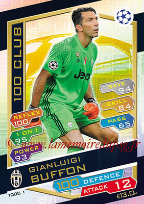2016-17 - Topps UEFA Champions League Match Attax - N° 100C1 - Gianluigi BUFFON (Juventus FC) (100 Club)