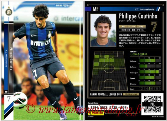 Panini Football League 2013 - PFL02 - N° 021 - Philippe Coutinho ( F.C. Internazionale )