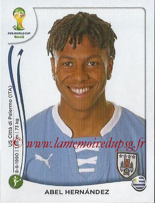 2014 - Panini FIFA World Cup Brazil Stickers - N° 275 - Abel HERNANDEZ (Uruguay)
