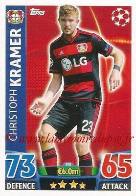 2015-16 - Topps UEFA Champions League Match Attax - N° 208 - Christoph KRAMER (Bayer 04 Leverkusen)