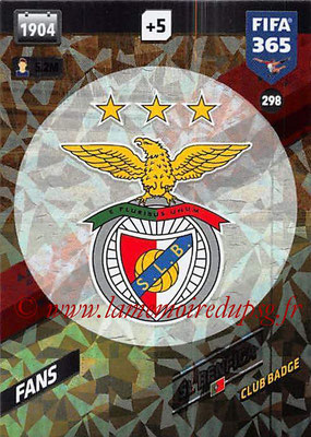 2017-18 - Panini FIFA 365 Cards - N° 298 - Logo SL Benfica (Club Badge)