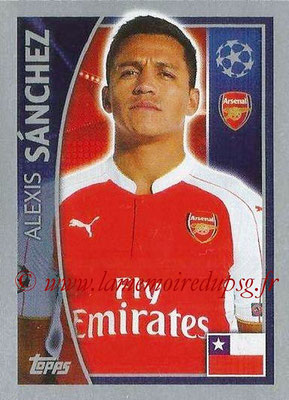 2015-16 - Topps UEFA Champions League Stickers - N° 404 - Alexis SANCHEZ (Arsenal FC)