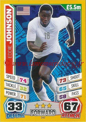 Topps Match Attax England 2014 - N° 240 - Eddie JOHNSON (Etats-Unis)