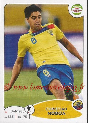 2014 - Panini Road to FIFA World Cup Brazil Stickers - N° 198 - Christian NOBOA (Equateur)