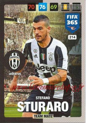 2016-17 - Panini Adrenalyn XL FIFA 365 - N° 214 - Stefano STURARO (Juventus FC)