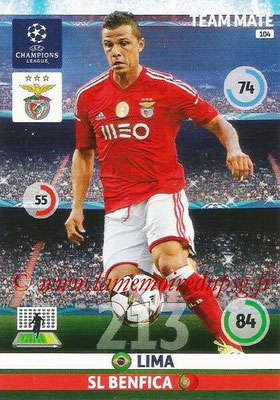 2014-15 - Adrenalyn XL champions League N° 104 - LIMA (SL Benfica)