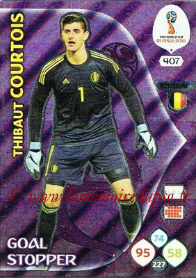 2018 - Panini FIFA World Cup Russia Adrenalyn XL - N° 407 - Thibaut COURTOIS (Belgique) (Goal Stopper)